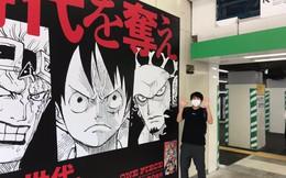 Bộ ba Luffy - Law – Kid được in biển quảng cáo cực lớn để quảng bá cho sản phẩm mới ra của One Piece