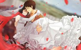 """Mặc kệ tác giả nhẫn tâm, fan Attack on Titan tự vẽ ra một """"tương lai màu hồng"""" nơi Eren và Mikasa bên nhau hạnh phúc"""