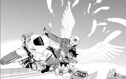 Conan chap 1073 chứng kiến cảnh Conan suýt chết vì đuổi theo bọn bắt cóc tiến sĩ Agasa