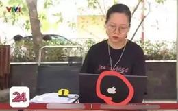 """Lên sóng truyền hình, nữ sinh học online gây """"lú"""" người xem bởi một chi tiết liên quan đến """"quả táo cắn dở"""""""