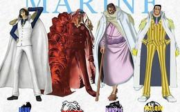 """One Piece: Sự khác nhau của 4 Đô đốc Hải quân, từ sức mạnh đến quan điểm công lý có một sự """"mỉa mai"""" không hề nhẹ"""