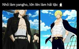 """Các fan Tokyo Revengers chỉ ra phong cách ăn mặc của """"Mikey bất bại"""" rất giống Sanji trong One Piece"""