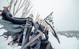 """Cosplay nàng Saber và Jeanne d'Arc """"song kiếm hợp bích"""" trên nền tuyết trắng trong Fate/Grand Order"""