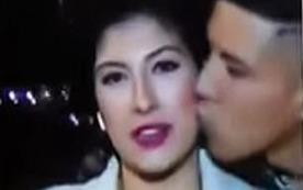 Trót dại cưỡng hôn nữ phóng viên đang tác nghiệp trên sóng truyền hình trực tiếp, thanh niên nhận cái kết