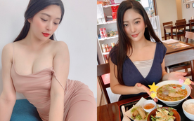 Ở nhà rảnh rỗi, mỹ nhân 18+ bất ngờ khoe với fan đi ăn phở Việt Nam