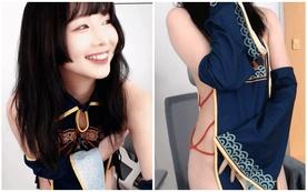 Bị cấm để lộ nội y, nữ streamer lách luật khi chỉ quấn duy nhất mảnh vải lên sóng, dùng tay giữ cả buổi tránh hớ hênh