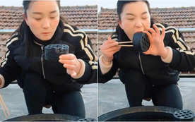Liều mạng ăn than tổ ong nóng hổi để nhận donate, nữ streamer khiến người xem sốc nặng