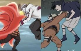 Trận đấu giữa Hokage đệ thất vs Isshiki có biên đạo tương tự như cuộc chiến của Naruto vs Sasuke năm xưa