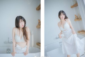 Say lòng hình ảnh thiếu nữ diện váy trắng dịu dàng, e ấp những ngày tết gần kề