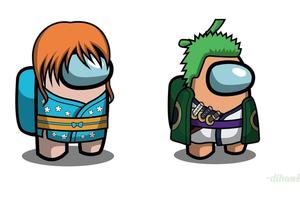 One Piece: Băng Mũ Rơm rủ nhau chơi Among Us, nhân vật nào thích hợp để làm sói nhất?
