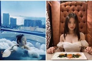 18 tuổi, hot girl Linh Ka ngày càng gợi cảm, hết khoe ảnh lưng trần lại tới ảnh tắm bồn nóng bỏng