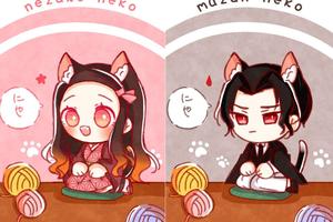 Cưng muốn xỉu khi thấy dàn nhân vật Kimetsu no Yaiba có thêm đôi tai mèo
