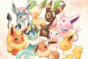 Loạt tranh tuyệt đẹp về Eevee, dòng họ xinh xắn nhất trong thế giới Pokemon