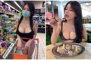 Đeo khẩu trang không lộ mặt đi siêu thị, cô gái bỗng chốc được phong là hot girl, người người đòi xin info bằng được