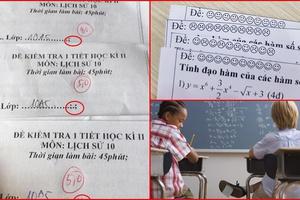 Cận cảnh những mã đề thi siêu bá đạo khiến học sinh phải