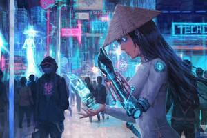 Chiêm ngưỡng thế giới giả tưởng của Việt Nam trong tương lai, đẹp không kém gì Cyberpunk 2077