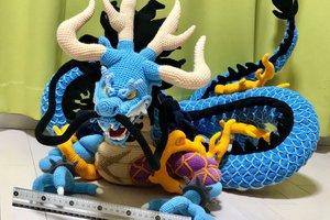 One Piece: Vì quá hâm mộ một fan cứng Nhật Bản cất công tạo hình Kaido bằng len cực đẹp