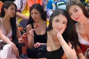 Ra sân xem bóng, hai cô gái xinh đẹp bất ngờ trở thành tâm điểm trên khán đài, soi info lại càng thêm bất ngờ