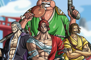 One Piece: Ngẩn ngơ ngắm Tứ hoàng Shanks cùng 3 thành viên mạnh nhất băng Tóc Đỏ diện trang phục Wano quốc