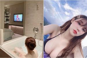 Khoe ảnh vừa tắm vừa xem TV với caption lả lơi, cô nàng hot girl suýt nữa