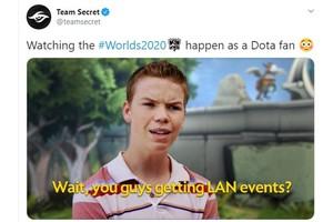 Chứng kiến CKTG 2020 được tổ chức, Team Secret than thở - 'Từ từ, LMHT vẫn có giải đấu LAN à?'