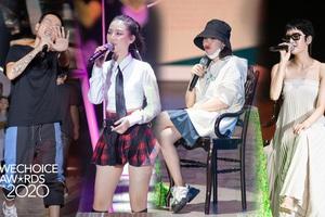 Dàn sao siêu hot đổ bộ sân khấu tổng duyệt WeChoice 2020: Hòa Minzy - Hiền Hồ đọ sắc bất phân, Wowy và dàn thí sinh Rap Việt ngầu quá!
