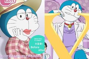Sốc với loạt ảnh Doraemon