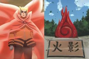 """Naruto: Hình dạng Baryon Mode của Naruto trong anime rất giống với biểu tượng """"Ý chí của lửa"""" ở Konoha"""