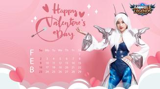 Valentine's Day - Nữ streamer Mobile Legends: Bang Bang VNG tạo dáng siêu cute trong bộ ảnh lịch cực chất
