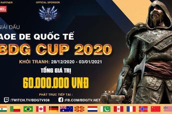 Thông báo về giải đấu AoE DE BDG Cup 2020, nơi thỏa mãn đam mê, kết nối bạn bè thế giới