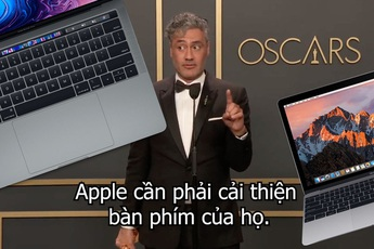 Bàn phím MacBook quá tệ, Apple bị sao Oscar chỉ trích ngay tại sự kiện