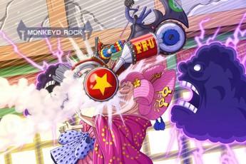 One Piece: Fan thích mê khi khoảnh khắc Franky tông thẳng xe vào mặt Big Mom đã được lên màu