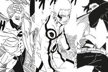 """Boruto chapter 50: Naruto và Sasuke bị Isshiki Otsutsuki """"bón hành"""" tơi tả, Boruto ra tay ứng cứu"""