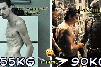 """Bái phục khả năng biến hình của Christian Bale khi đóng phim: Dù nhân vật vai u bắp thịt hay gầy gò ốm yếu, anh """"cân"""" được tất"""