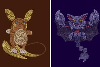 Mãn nhãn với loạt fanart Pokémon vô cùng sáng tạo, từ những con chữ đã ra các sinh vật hoàn chỉnh