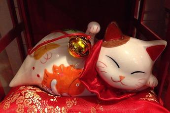 Nguồn gốc của mèo may mắn Maneki Neko