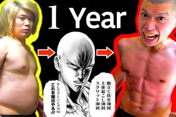 """Mơ mộng """"đấm phát chết luôn"""" như One Punch Man, nam YouTuber dày công giảm cân, cạo đầu, luyện boxing suốt một năm cho giống """"thần tượng"""""""
