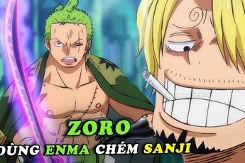 One Piece: Giật mình với tình huống Sanji né nhát chém của Zoro khi sử dụng Enma