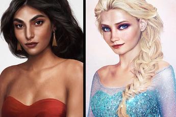 """Khi những nàng công chúa, hoàng tử Disney bước từ phim ra đời thật trông càng """"quyến rũ"""" bội phần"""