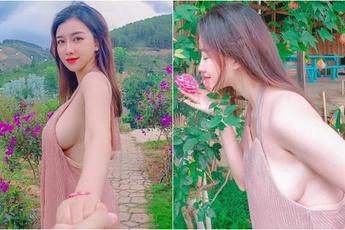 """Thả rông vòng một đi """"thưởng hoa"""", nàng hot girl Việt bất ngờ được lên báo nước ngoài, dân mạng đổ xô tìm info"""
