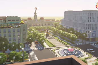 Game thủ tái hiện thành phố Hồ Chí Minh tươi đẹp trong tựa game Minecraft