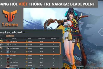"""Mới ra mắt 1 ngày, nhóm game thủ Việt T.Game đã """"thống trị"""", áp đảo bảng xếp hạng NARAKA: BLADEPOINT đầy ngoạn mục"""