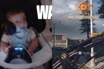 Game thủ nhí 6 tháng tuổi khiến cộng đồng Call of Duty: Warzone ngỡ ngàng vì tài thiện xạ siêu đỉnh