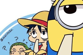 Minion đã du lịch tới thế giới One Piece qua bộ fanart cực kì đáng yêu
