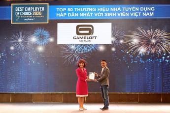 Gameloft đạt danh hiệu nhà tuyển dụng về game hấp dẫn sinh viên