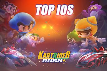 KartRider Rush+ đánh bại nhiều đối thủ mạnh để góp mặt trong bảng xếp hạng trên kho ứng dụng iOS