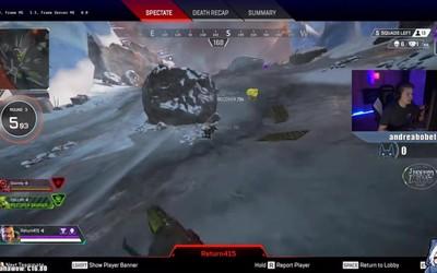 Đấu hack đỉnh cao trong Apex Legends, hai team tốc biến, đạn đuổi bắn như phim chưởng.